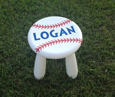 Personalized Step Stool, Baseball Stool, Kids Furniture, Kids Stool