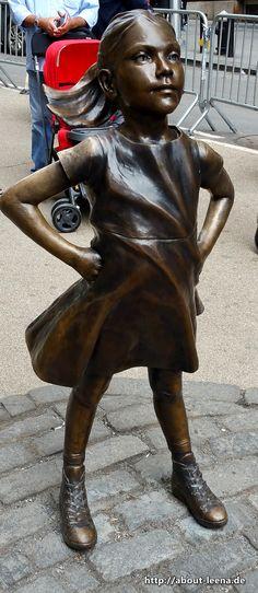 Das kleine Mädchen, Bowling Green Park, nahe Wall Street, Financial District, Manhattan, New York