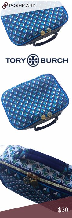 """Tory Burch Signature Collectors Lunchbox in Blue Excellent used condition. A beautiful Tory Burch/Neiman Marcus/target collaboration. Designer collectors limited edition lunch box in blue.  11""""x7.5""""x3 Tory Burch Bags"""
