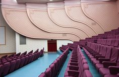 North Korean Building Interiors  Architecture critic from the Guardian Oliver Wainwright traveled to North Korea during the last summer and he was charmed by the atypical architecture of the buildings. He photographed it when it was empty to document the entire architecture. Constructions with pastel tones and gigantic dimensions that are emphasized by the pictures angle.            #xemtvhay