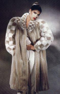 1980s mink fur coat