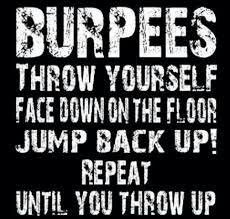Love to hate burpees!