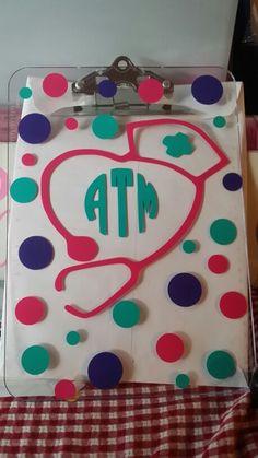 Personalized school nurse clipboard