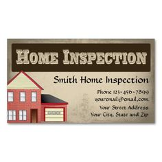 business card inspector home inspector business cards business