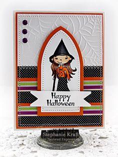 Happy Halloween Card by Stephanie Kraft #Halloween, #Cardmaking