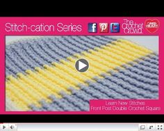 How To Crochet Front Post around Single Crochet Stitches