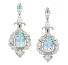 Generations 1912 Gemstone & White Sapphire Sterling Silver Earrings