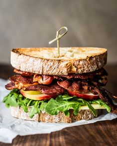 Looking for some crunch? This Apple Bacon Arugula Sandwich is what you need.