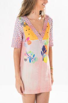 Destaque foto Adoro Farm, Short Sleeve Dresses, Dresses With Sleeves, Farm Rio, Shirt Dress, T Shirt, Digital Prints, Ideias Fashion, Chic