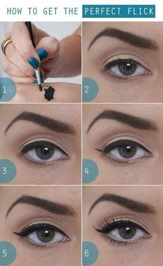Eye Make-up tutorial - The perfect flick