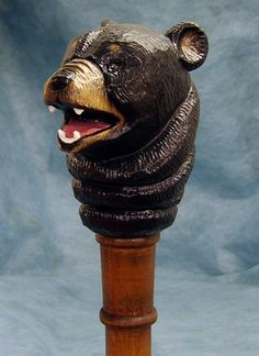 Black Bear Style Walking Stick or Hiking Staff Our unique selection of this…