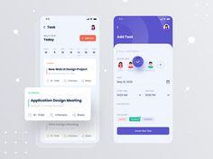 App Ui Design, Mobile App Design, User Interface Design, Design Resume, To Do App, App Design Inspiration, Mobile App Ui, Application Design, Management