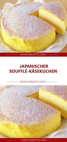 Japanischer Soufflé-Käsekuchen 😍 😍 😍 dessert no bake Chocolate Cookie Recipes, Easy Cookie Recipes, Easter Recipes, Easy No Bake Cheesecake, Baked Cheesecake Recipe, Cake Mix Recipes, Dessert Recipes, Strawberry Recipes, Food Cakes