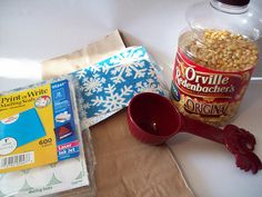 How to make a homemade microwave popcorn favor