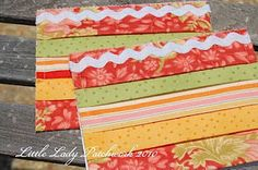 fabric scrap greeting cards