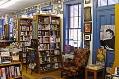 Inside Square Books in Oxford Mississippi. Oozing southern charm...I love this place.