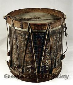 This drum is from the Revolutionary War.  As a history nerd and a music nerd I really love this image.  Thanks Georgia Historical Society!