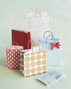Fancy little totes filled with cash or small trinkets will bring a big smile to any child's face.Print the Money Bags Template