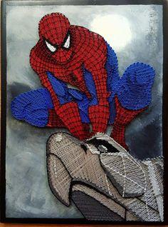 String art Spider man