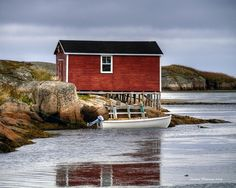 Fishing Stage. Newfoundland,Canada. Newfoundland Canada, Newfoundland And Labrador, Pictures Plus, Pictures To Paint, Atlantic Canada, Miniature Paintings, Watercolour Paintings, Island Tour, Fishing Villages