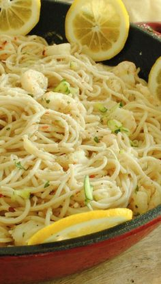 Lemon and Garlic Pasta with Shrimp Recipe