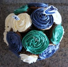 Cupcakes & Canucks - Love Vancouver Canucks, Icing, Delish, Cupcakes, Cupcake Bouquets, Eat, Desserts, Sony, Photo Ideas