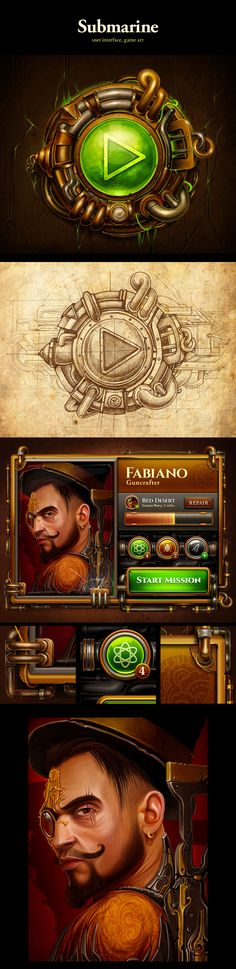 Steampunk projects on Behance