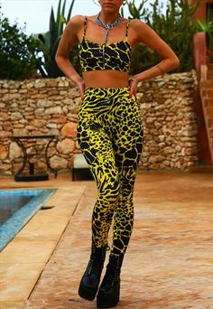 SUPERFLY LEOPARD PRINT LEGGING & CROP TOP CO-ORD