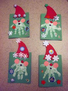 Lavoretti di Natale per l'asilo nido - Biglietti natalizi
