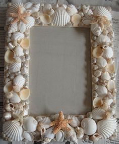 Participating artists created mosaic art from shells in this workshop by shell artist Janet Nordlinger. Seashell Frame, Seashell Art, Seashell Crafts, Beach Crafts, Beach Themed Crafts, Picture Frame Projects, Photo Frame Crafts, Picture Frames, Crafts To Make