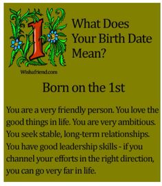 What Does Your Birth Date Mean????