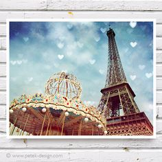 Carnival Paris The Eiffel Tower & The Carousel Fine Art Photo by petekdesign