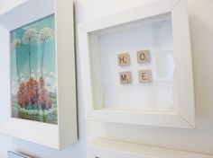 What a great idea using scrabble pieces.  Perfect for a child's room