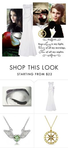 """""""Sleeping Beauty"""" by babywingedwolf ❤ liked on Polyvore featuring Zac Posen, Once Upon a Time, Allurez and Swarovski"""