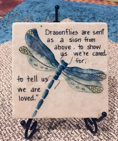 "Excited to share the latest addition to my #etsy shop: Dragonfly Art, Dragonfly Painting on Coaster, Oil Painting, Dragonfly Oil painting,4' and 6"" Tile, You can find my art work at etsy.com/shop/carolesstudio"