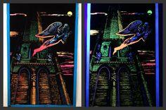 """1972 """"Flying Demon"""" Vintage Black Light Poster by Pro Arts Inc 21X32 #Vintage"""