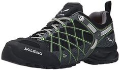 Salewa Womens Wildfire S GTX Shoes Black  Emerald 65  Cap Bundle * Check out this great product.