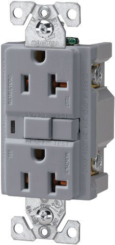 The Eaton VGF20GY 20Amp 2Pole 3Wire 125Volt Duplex Ground Fault Circuit Interrupter Gray *** Read more  at the image link.Note:It is affiliate link to Amazon.