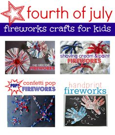 Cutest 4th of july crafts . Love the cupcake liner fireworks!