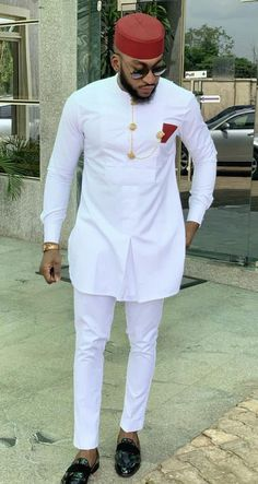 White African men wear, dashiki suit for wedding - DarlingNaija African Male Suits, African Wear Styles For Men, African Shirts For Men, African Dresses Men, African Attire For Men, African Clothing For Men, Latest African Fashion Dresses, Ankara Fashion, African Women