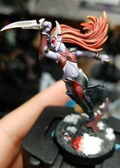 Coven of the Blood Moon by war forged modeling daughters of khaine dark elf which elf
