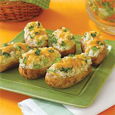 Broccoli-and- Cheese-Stuffed Baked Potatoes Recipe