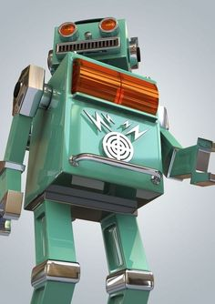 Vintage Robot by Tom Delpech