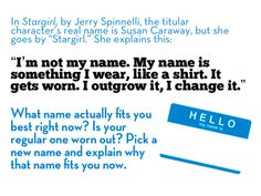 Pick a new name-- Writing Prompt