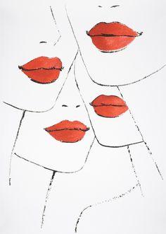 http://www.fashionillustrationgallery.com/store/jason-brooks-lipstick/  JASON BROOK 350 £  75.5 x 53.5 cm