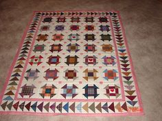 Image detail for -everyone! I finished putting the borders on my plaid churn dash quilt ...