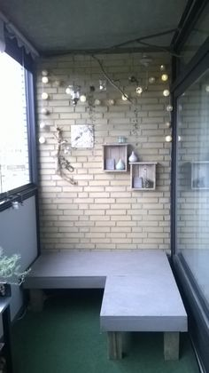 My balcony, progress in making my cosy corner