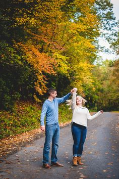 Fall engagement photography. Autumn in Fayetteville, WV.