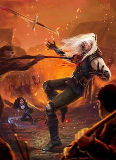 Witcher falling by DarianaLoki
