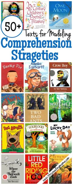 Teach Your Child to Read 50 Texts for Modeling Comprehension Strategies - This Reading Mama Give Your Child a Head Start, and.Pave the Way for a Bright, Successful Future. Reading Lessons, Reading Resources, Reading Skills, Reading Books, Math Lessons, Reading Games, Reading Groups, Piano Lessons, Library Books